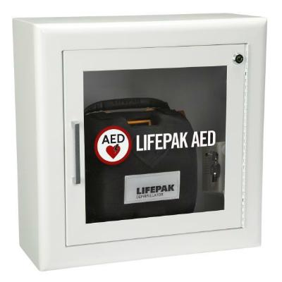 Lifepak AED Wall Cabinet with Alarm & Strobe