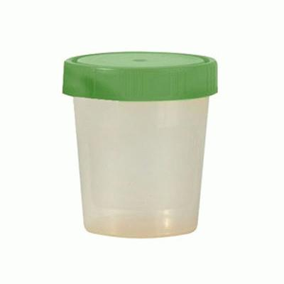 Urine Cups With Screw On Green Caps (10)