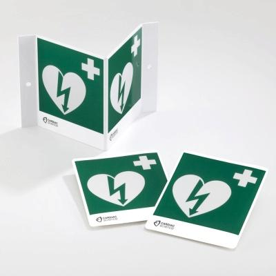 Hi-Visibility 3D AED Wall Sign Kit - Green