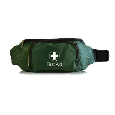 First-Aid Bum Bag With Two Compartments - Green