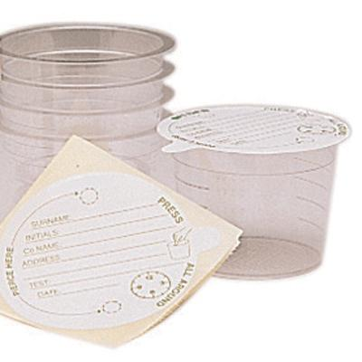 Urine Sample Container with Paper Lid 100cc (50)