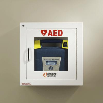 AED Wall Cabinet - Surface Mount with Alarm and Security Enabled