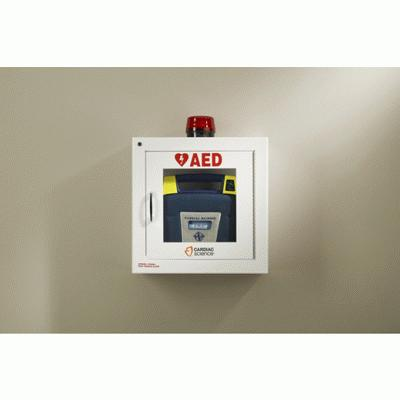 Metal AED Wall Storage Cabinet with Alarm & Strobe