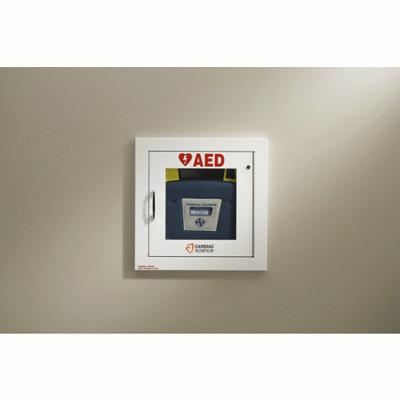 AED Wall Cabinet - Fully Recessed with Alarm