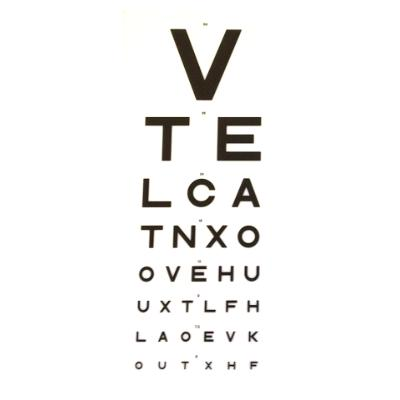 3m VTE Direct Eye Test Chart - DVLA 7.5