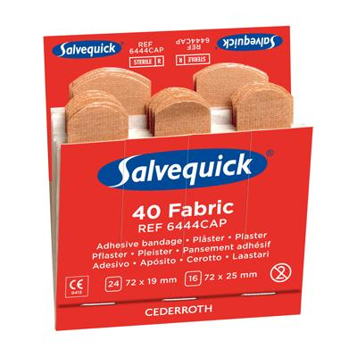 Cederroth Salvequick Fabric Plaster Refill (6 x 40)