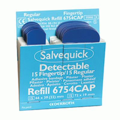 Cederroth Salvequick Blue Detectable Plaster Refill (6 x 30)