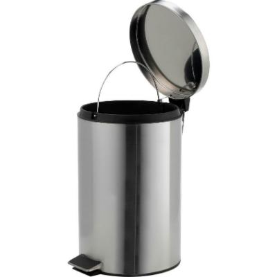 Brushed Stainless Steel Pedal Bin 12 Litre
