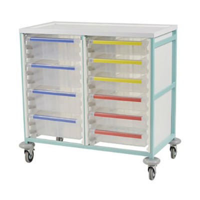 Caretray Trolley Double Column (List inc Del)