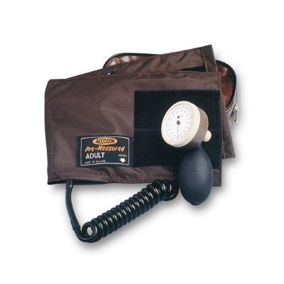 Limpet Aneroid Hand Sphyg with Velcro Cuff - Coiled Tube