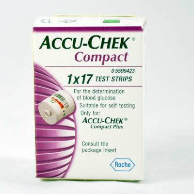 Accu-Chek Compact Blood Glucose Test Strips (17)