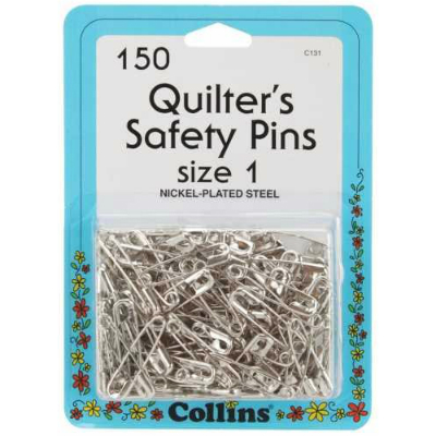 Silver Safety Pins - Size 1 - (200)