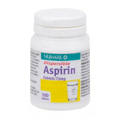 Aspirin Dispersable Tabs - 75mg (100) *P*