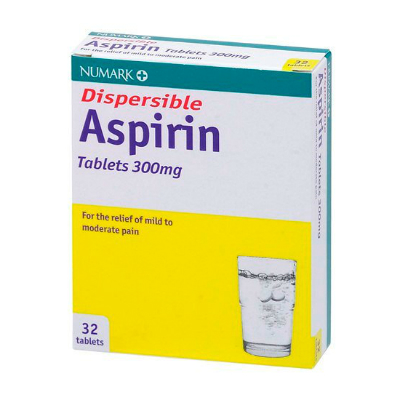 Aspirin Dispersable Tablets - 300mg (100) *P*