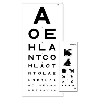 3 Metre Eye Test Chart  - Double Sided