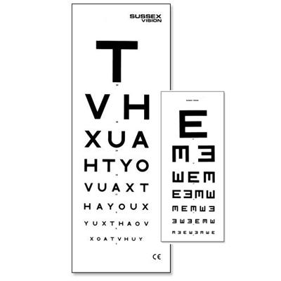 6 Metre Eye Test Type with Patient Hand Card