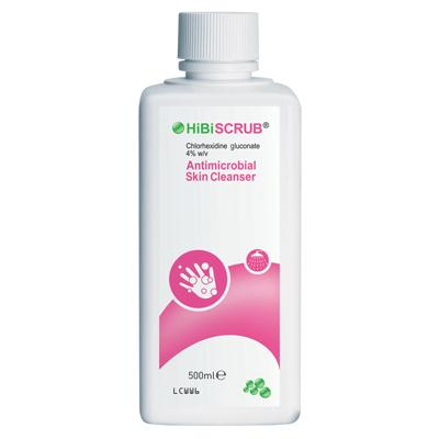 Hibiscrub Antimicrobial Cleanser - 500ml - Pump not included