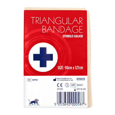 Calico Triangular Bandage - Sterile
