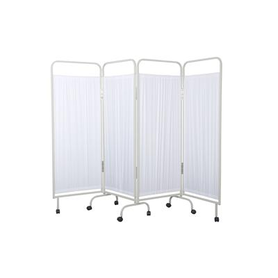 4 Section Curtain Frame with White Curtains