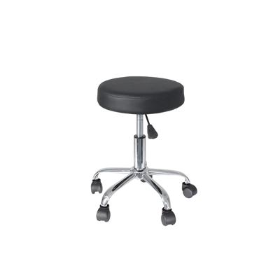 Gas Lift Round Stool - Black