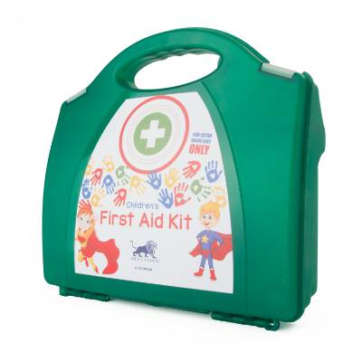 Blue Lion Childrens First Aid Kit in Contemporary Box