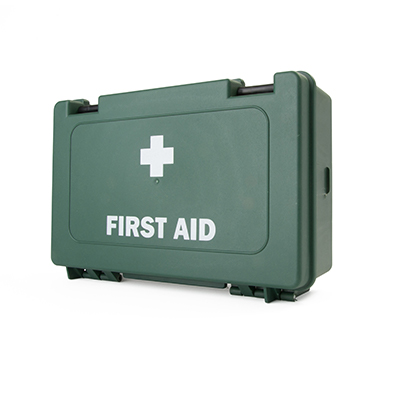 BS-8599-1 Compliant Small Catering First Aid Kit in Standard Green Box