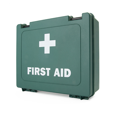 BS-8599-1 Compliant Large Catering First Aid Kit in Standard Green Box