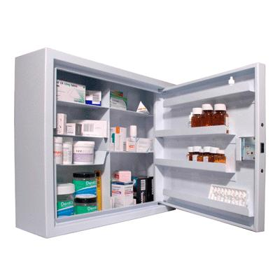 Drug Cabinet - Wall Mounted - 565mm x 480mm x 160mm