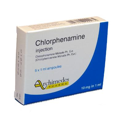 Chlorphenamine Injection - 10mg (5) *POM*