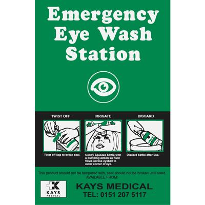 Eye Wash Station Identifier & Instruction Sign