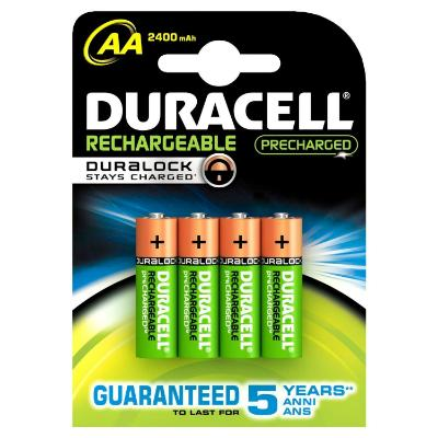 Duracell Rechargeable Accu 2400 mAh AA Batteries (4)