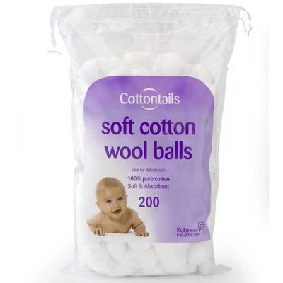 Cotton Wool Balls - Large (200)