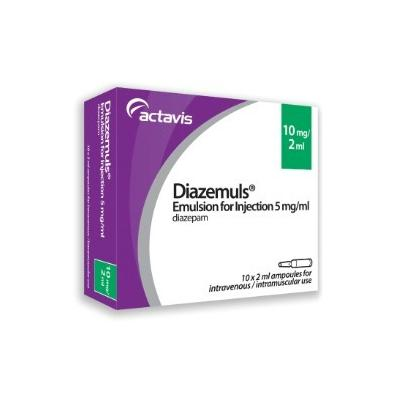 Diazemuls (Diazepam Injection) - 10mg/2ml (10) *POM* *CD*