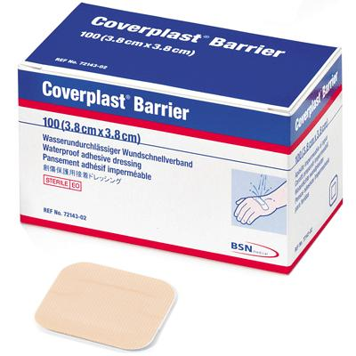 Coverplast Barrier Plasters - 3.8cm x 3.8cm (100)