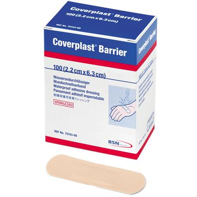 Coverplast Barrier Plasters - 6.3cm x 2.2cm (100)