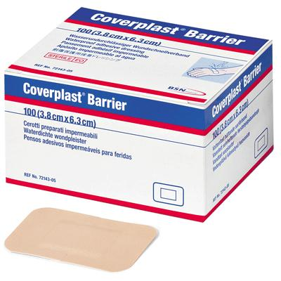 Coverplast Barrier Plasters - 6.3cm x 3.8cm (100)