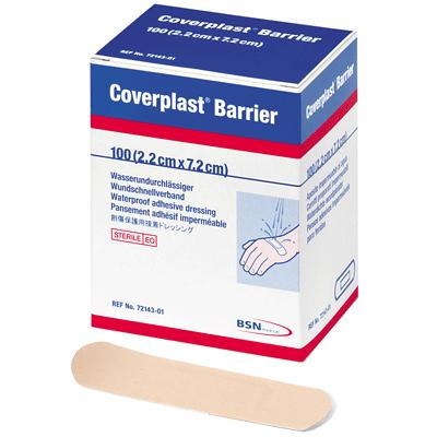 Coverplast Barrier Plasters - 7.2cm x 2.2cm (100)