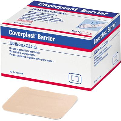 Coverplast Barrier Plasters - 5cm x 7.2cm (100)