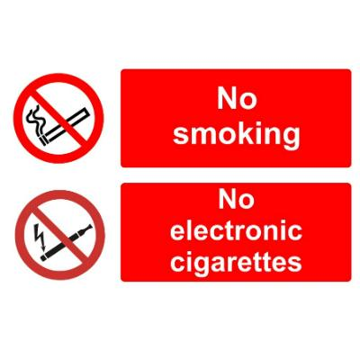 No smoking - No E-Cigarettes Allowed - SA - 150mm x 300mm