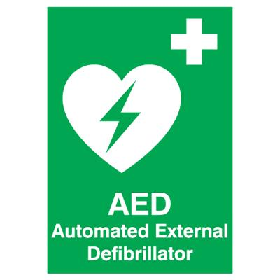 AED Sign - 250mm x 100mm - Rigid