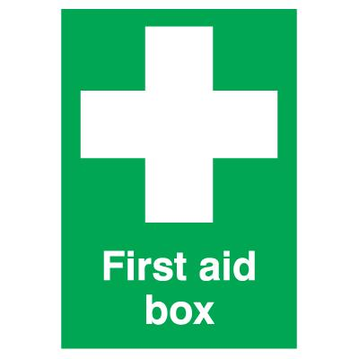 First Aid Box Sign - 210mm x 148mm - Self-Adhesive