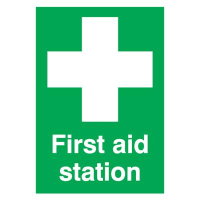 First Aid Station Sign - 420mm x 297mm - Rigid