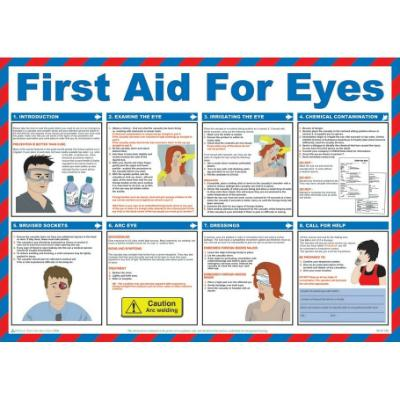 First Aid For Eyes Wallchart 420mm x 590mm