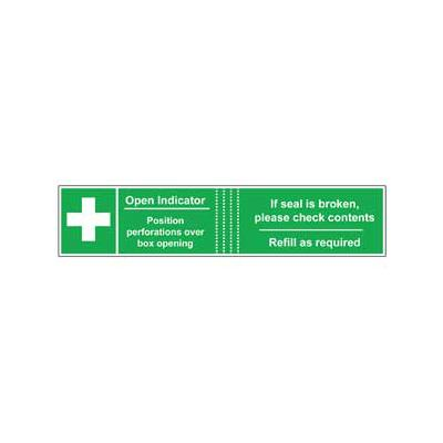 First Aid Box Seals - Perforated Paper (50)