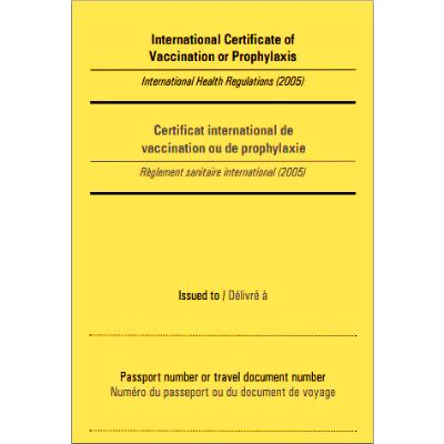 Yellow Fever Certificates (10)