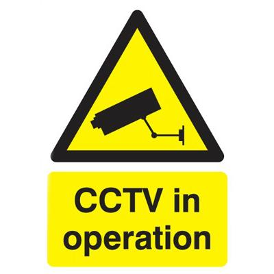 CCTV in Operation Sign - 297 x 210mm