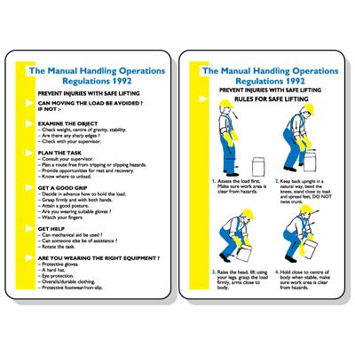 Manual Handling Operations Regulations Pocket Guide 120x80mm