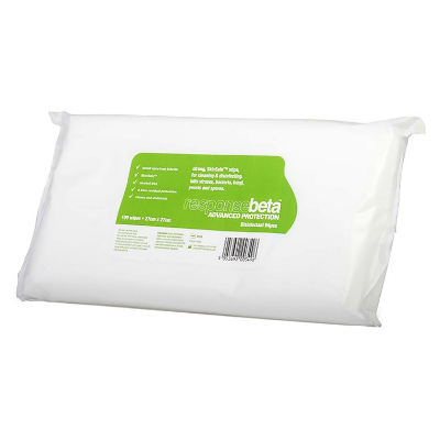ResponseBeta Disinfectant Wipe Pouch (100)
