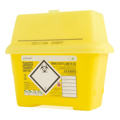 Sharps Disposal Container - 2 Litre