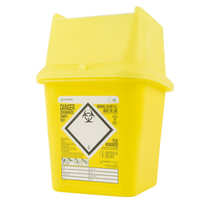 Sharps Disposal Container - 4 Litre